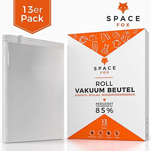 SpaceFox EINFÜHRUNGSANGEBOT Vakuumbeutel zum Rollen [2019] - Reisebeutel Set 13 TLG - Vakuum per Hand