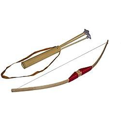 Juguetutto - Arco peq. Ventosa ROJO. Juguete arco de madera para que niños de todas las edades puedan probar su puntería lanzando las flechas con ventosa que incorpora
