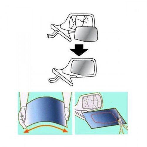 Peraline 326 - Espejo recortable para retrovisor