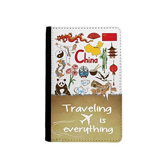 China Panda Landscap National Flag Traveling quato Passport Holder Travel Wallet Cover Case Card Purse - Panda Passport Cover