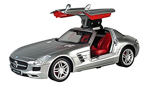 Battery Operated 1:16 Scale Radio Control Mercedes Benz SLS AMG - Remote Controlled Luxury Sports Racing Car RC