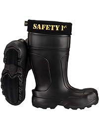 LBC Leon Boots Co Safety 1st Botas ultraligeras para Hombre, Color Negro