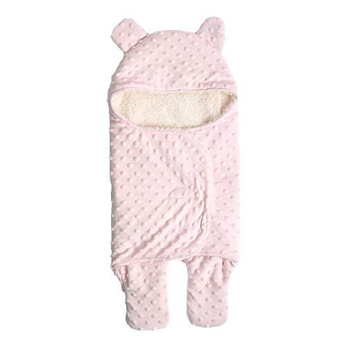 Aolvo Personalisierte Puckdecke, Schlafsack für Neugeborene, Baby-Wickeltuch – Atmungsaktives Plüsch-Kaschmir-Wickeltuch für Frühgeborene, Kleinkinder, Jungen, Mädchen, 74 x 65 cm Rose