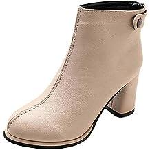 Sonnena - Botines cortos para mujer Botines Zapatos de invierno Martin