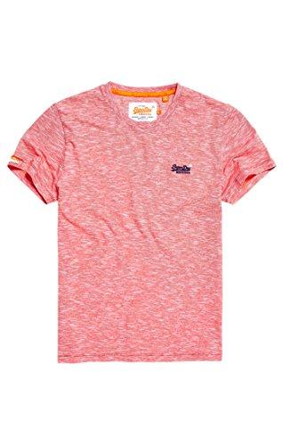 Superdry Herren T-Shirt Orange Label Vintage Emb Tee, Multicolore (Beach Red Feeder Stripe), X-Large