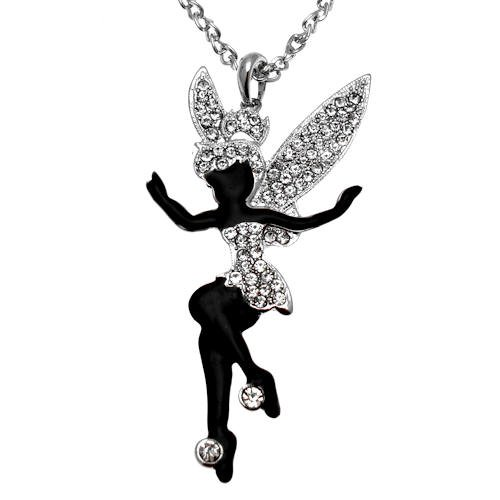 warz & kristallklar - Halskette Fee - Geschenkverpackung (Schwarze Fee Kostüm Uk)