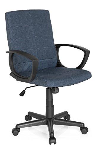 L300, Blau, Struktur-Stoff, ergonomischer Schreibtisch-Stuhl mit Armlehnen, Büro-Drehstuhl mit Wipp-Mechanik zum Arbeiten und Relaxen im Home-Office, Büro-Sessel, MyBuero 725300 ()