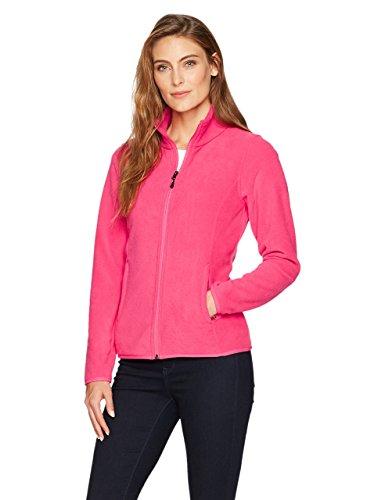 Amazon essentials Damen Fleece-Jacke mit Reißverschluss,Rosa (dark pink), Medium