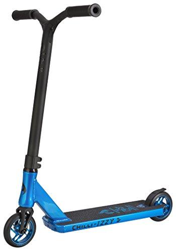 Chilli Pro Scooter Izzy Sky | Blau-Schwarzer Pro-Scooter für Junge Einsteiger & Profis | Robuster Roller, drehbarer Lenker ideal für Tricks geeignet | Leicht & schnell für maximales Fahrvergnügen