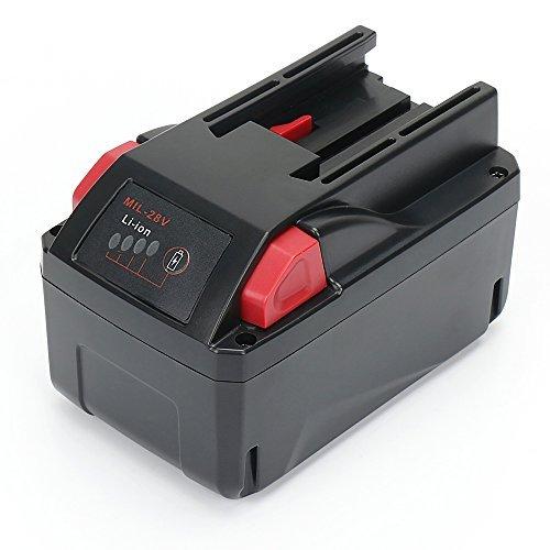 Milwaukee M28 REEXBON 28V 3.0Ah Batería de Repuesto para M28B M28BX V28 V28B 48-11-1828 48112830 4932352523 4932399196, compatible con el V28VC V28SX V28SG V28PG V28PD V28JSB V28IW V28IW V28HX HD28X
