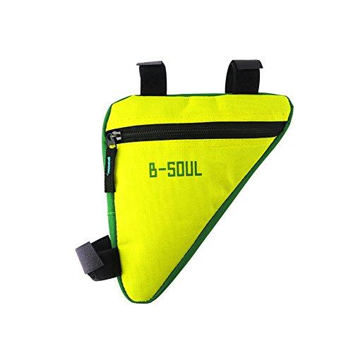 Cocohot Wasserdichte Front Frame Head Triangle Storage Pouch Fahrrad Taschen grün