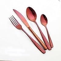 Enwinner - Juego de cubertería de 5 piezas, de acero inoxidable púrpura, de primera