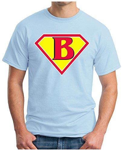 OM3 - BIG-BANG-SUPER-B - T-Shirt NERD SWAG ATOM PENNY GEEK EMO FUN SITCOM TBBT SARCASM PARODY, S - 5XL Hellblau