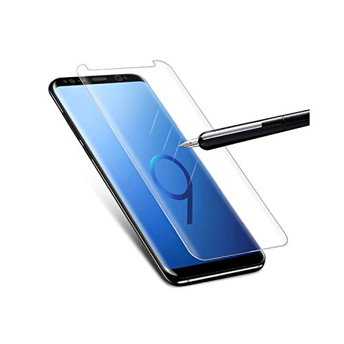 Vikimen Film aus gehärtetem Glas, 3D Curved Tempered Glass for Galaxy S7 Edge S8 S9 Plus Note 8 9 Full Cover Screen Protector Note9 Protective Film Glass S8 Plus Blue