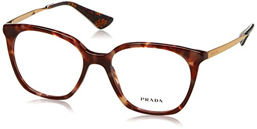 Prada - PRADA CINÉMA EVOLUTION PR 11TV,Rechteckig Acetat Damenbrillen, BROWN SPOTTED PINK, 53-17