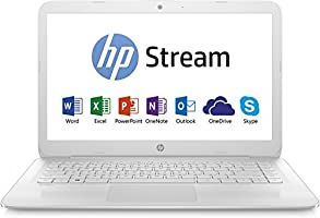 "HP Stream 14-ax018nf Ultrabook 14"" HD Blanc (Intel Celeron, 4 Go de RAM, SSD 32 Go, Intel HD Graphics 400, Windows 10) + Abonnement Microsoft Office 365 inclus"