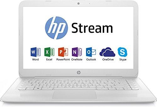 HP Stream 14-ax018nf Ultrabook 14' HD Blanc (Intel Celeron, 4 Go de RAM, SSD 32 Go, Intel HD Graphics 400, Windows 10) + Abonnement Microsoft Office 365 inclus