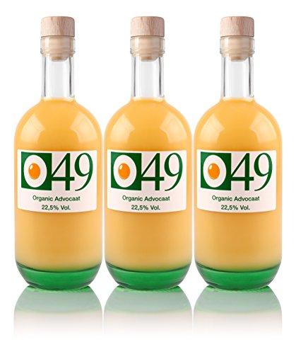 O49 Organic Advocaat - Premium Eierlikör 500ml, 22,5% vol. (3 Flaschen)