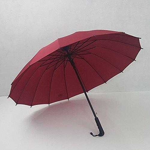 KHSKX Doppio arcobaleno osso auto ombrello Ombrello 16 uomini e