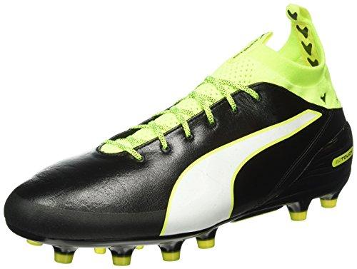 Puma Herren Evotouch Pro Ag Fußballschuhe Schwarz (black-white-safety yellow 01)