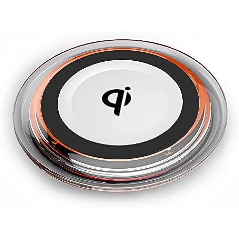 Cargador inalámbrico Qi, Fast Almohadilla de carga inalámbrica para Samsung Galaxy S7/S7edge, Galaxy S6/S6Edge + y todos los dispositivos Qi-Enabled