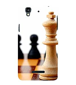 two pawns and one king of chess 3D Hard Polycarbonate Designer Back Case Cover for YU Yureka Plus::Micromax Yureka Plus