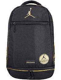 f04c023075f Jordan Nike DJ Khalid X Asahd Noir Doré Jumpman Sac à Dos Livre Sac de Sport