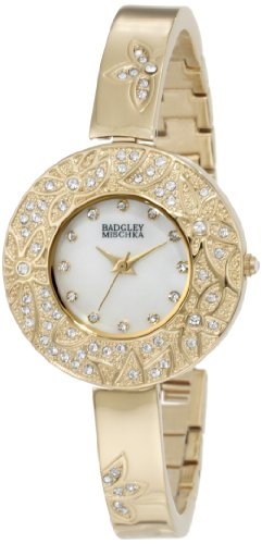 badgley-mischka-damen-ba1094mpgb-swarovski-crystal-akzent-gold-tone-blumen-theme-bangle-uhr