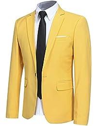 Amazon.fr   Jaune - Costumes et vestes   Homme   Vêtements 7693b07a9e6