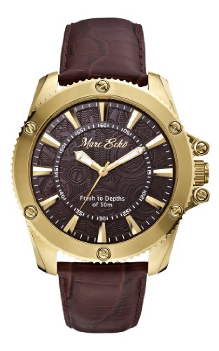 Marc Ecko - M14512G1 - The Flash - Montre Homme - Quartz Analogique - Cadran Marron - Bracelet Cuir Marron