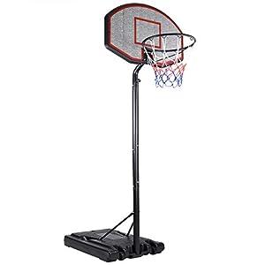 Deuba Mobiler Basketballkorb mit Rollen | verstellbare Korbhöhe 205 - max....