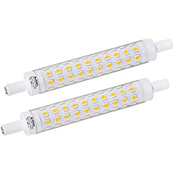 Ampoule LED R7S 118mm 10W Not Dimmable Azhien,Blanc Chaud 3000K,10 Watt Équivalent Lampe Halogene 60W 75W 80W, 1000LM, 360 Degrés, J Type J118 R7S Led Ampoules, Lot de 2
