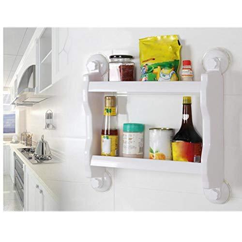 2 Layer Lagerung Regale Starke Saugnapf-Halter Badezimmer Organizer Küche Spice Jar Storage Rack-Halter (Badezimmer Storage Jars)