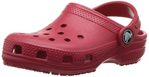 Crocs classic clog kids, sabot unisex - bambini, rosso (pepper), 34/35 eu