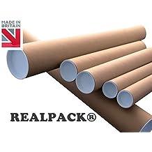 625/mm A3 braun realpack/® Versandrolle Karton mit Kunststoff Endkappen/ /7,6/cm line-size