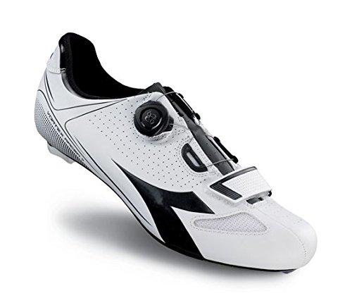 Diadora Vortex Racer Ii, Chaussures de Vélo de Route Mixte Adulte Blanc - Weiß (White/Black 3051)