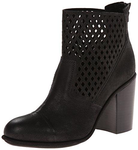 Calvin Klein Jeans Melina Rund Leder Mode Mitte Calf Stiefel Black