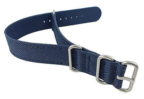 Ersatzband Uhrenarmband Durchzugsband Nautica Textil blau 20mm für A10021G