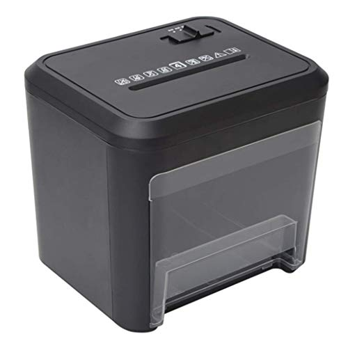 SCDFDJ Bürobedarf Kleine Shredder 4 Cross-Cut-Papier-Ausgang Office Portable Shredder mit 3,5-Liter-Abfallpapierkapazität mit Destroying CD/Kreditkarten, Schwarz