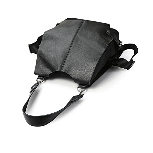 Leder Rucksack Dame Lässig Student Rucksack Mode Praktisch Schultasche Schulter Handtasche Black