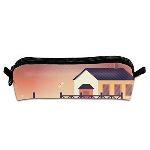 on Pen Pencil Stationery Bag Makeup Case Travel Cosmetic Brush Accessories ()