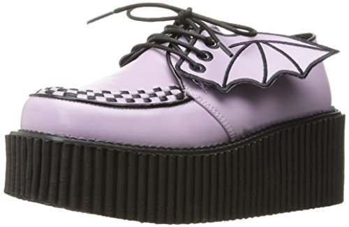 Demonia Women's Cre205/Lvpu Fashion Sneaker, Lavender Vegan Leather, 8 M US