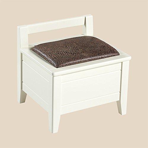 FEI Confortable Le tabouret de stockage Cadre en bois coffret de chaussure peut s'asseoir adulte Solide et durable