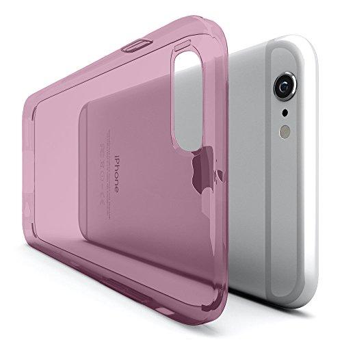 iPhone 6 Handyhülle [ULTRA DÜNN] Original Urcover® Schutz Hülle für das Apple iPhone 6 TPU Silikon [Deutscher Fachhandel] Case Cover Schale Flip Tasche Etui Rosa Transparent Rosa