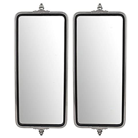 Driver and Passenger Universal West Coast Truck Stainless Steel Side Mirrors 7 x 16 Replacement by AUTOANDART
