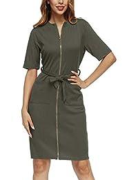 47bd61afe2fa Simple-Fashion Estivo Donna Vestiti con Bandage Moda Sottile Maniche Corte Vestito  da Partito Cocktail