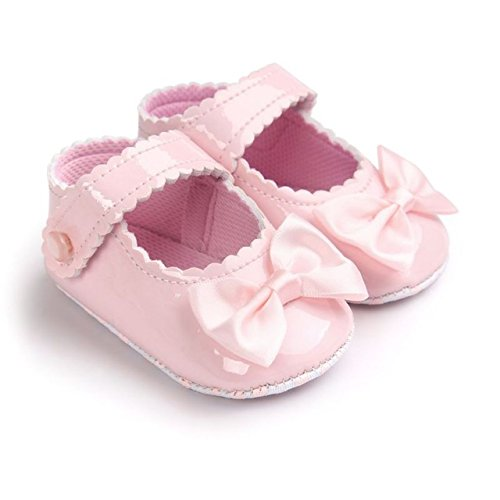 Shoppertize Bow PU Leather First Walkers Soft Soled 0-1 Year Infant Toddler Newborn Baby Girl Princess Sandals
