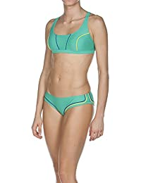 Arena Sporty 2Crossed Top - Bikini Verde Bali Green/Royal/Yellow Star Talla:42 [DE 40]