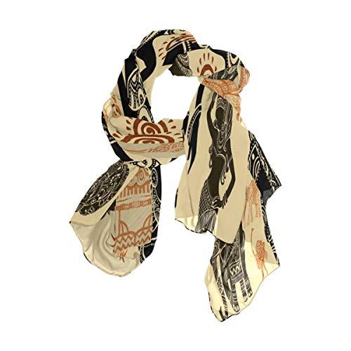 MNSRUU - Bufanda larga para mujer, diseño de mandala