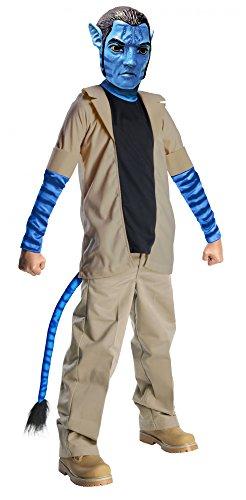 Avatar Jake Sully Kostüm Kinder Kinderkostüm Pandora blau Farbelwesen Gr. S - L, Größe:M (Kinder Kostüme Avatar)